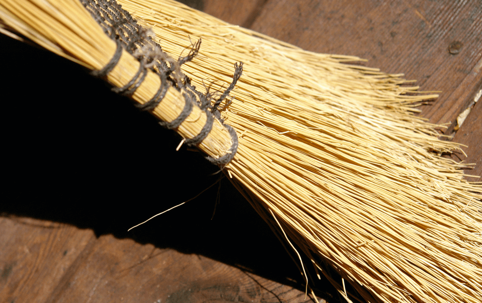 Sweeping a deck